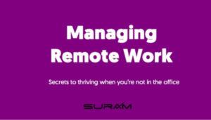 Managing remote work